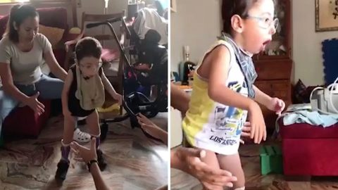 Heartwarming Footage Captures Moment Boy Learns To Walk After 'dying' At Eight Days Old Image