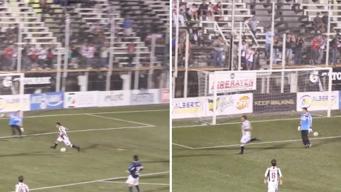 Watch: Footballer Proves It's Possible To ScoreWithoutTouching The Ball In Hilarious Viral Clip Image