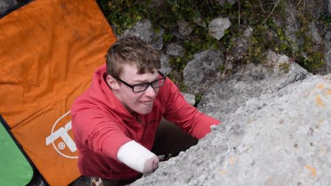 Mountains Of Opportunity! Teenager Who Is Uk's Top One-armed Rock Climber Won't Let Disability Hold Him Back Image