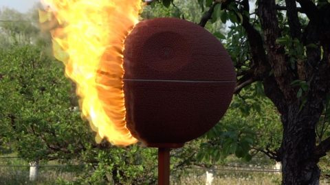 This Death Star Is No Match For The Force Of Fire! Man Recreates The Iconic Death With Matchsticks Only To Set It Alight And Watch It Burn Image