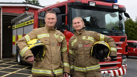 Perfect match! Firefighter father and daughter duo real life superheroes as they tackle blazes together Image