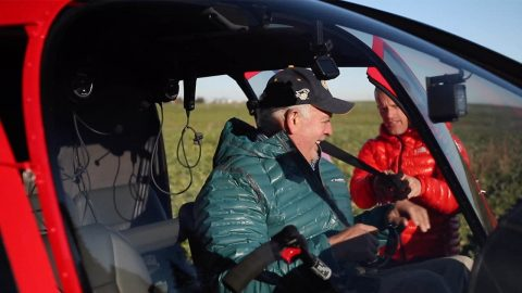 Flight down memory lane: son surprises dad with a special father's day gift as they take a helicopter ride to a mountain peak they climbed two decades prior Image