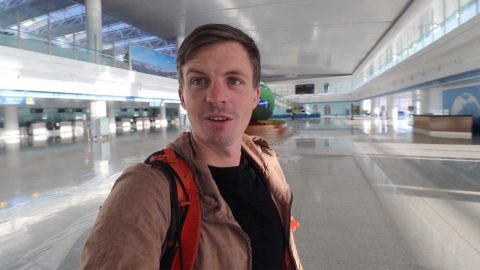 Traveller experiences surreal zombie-movie scenario as checks into a north korean airport to find he is the only one there Image