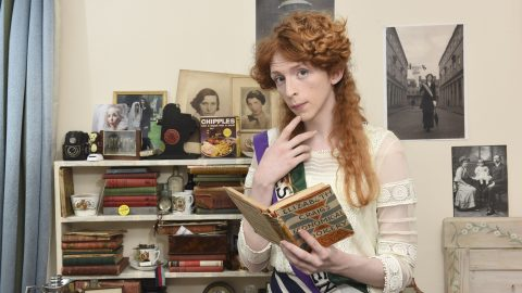 Blast from the past! Teenage girl lives in the past and dresses like suffragette - as 21st century is too boring Image