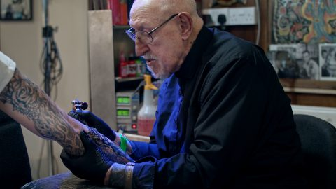 You Ink Its All Over! Uks Oldest Tattooist Still Hard At Work Aged 86 – And Says Skills With A Needle dont Want To Disappear Image