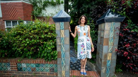 To-tiley Obsessed! Artist Transforms 1920s Terrace Into 'ceramic Fanasy Land' With More Than 10,000 Tiles She Designed Herself Image
