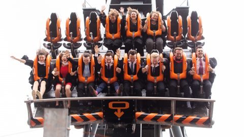 Top Of The Ride! Students Have Graduation Ceremony On A Rollercoaster Image