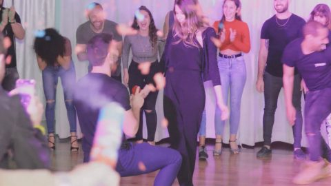 Getting Down On One Knee! This Dance Teacher Surprised His Girlfriend With A Ring While She Was Dancing Image