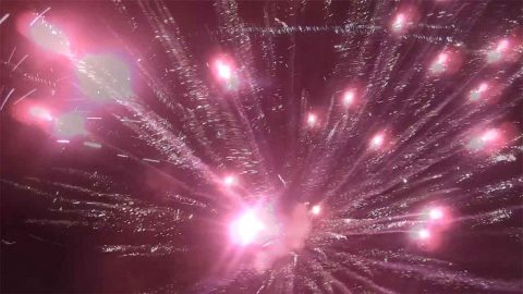 Drone Flies Above And Narrowly Avoids Fireworks Image