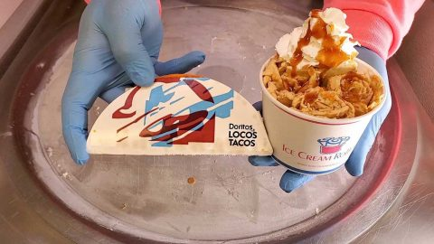 Nacho Normal Ice Cream! This Ice Cream Shop Turns Taco Bell Into Sweet Confectionery Image
