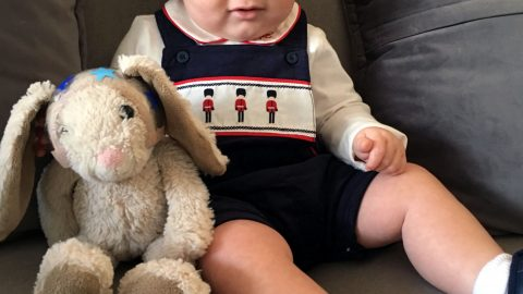 CREATIVE MUM DECORATES ONE IN A MILLION TODDLERS LIFE-SAVING MEDICAL HELMET FOR CHRISTMAS, HALLOWEEN AND REMEMBRANCE DAY - AND EVEN GIVES TEDDY ONE TOO Image