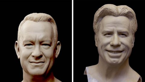 TALENTED SCULPTOR CREATES WORKS OF ART OUT OF SOME OF THE WORLD'S MOST FAMOUS FACES, INCLUDING DWAYNE JOHNSON, TOM HANKS AND PRINCE Image