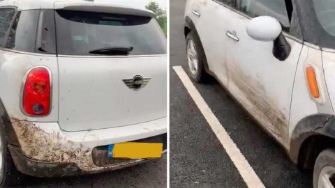 LOST AND CLOWN! HAPLESS CITY DWELLER LEFT STRANDED IN PITCH DARKNESS AND FORCED TO SHELL OUT £720 TO RECOVER CAR AFTER SAT NAV DIRECTS HIM INTO A DITCH Image