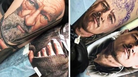 TALENTED ARTIST CREATES HYPER-REALISTIC TATTOOS THAT LOOK LIKE PHOTOS Image