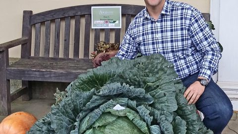 THATS A TURNIP FOR THE BOOKS! GIANT VEG GROWING SCHOOLBOY SELECTED TO BE JUDGE IN INTERNATIONAL GARDENING COMPETITION Image