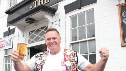 BRITAINS BIGGEST PUB CRAWL! MAN ON 35-YEAR LONG PUB CRAWL SINKS 50,000TH PINT Image