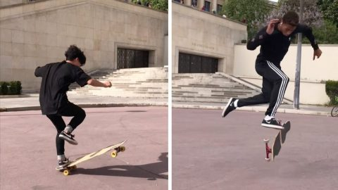 LIMBER LONGBOARDER SHOWS OFF HIS IMPRESSIVE DANCE MOVES WHILE SKATING AROUND THE WORLD Image