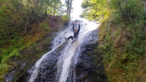 ADVENTURERS STUMBLE ACROSS INCREDIBLE NATURAL WATERSLIDE Image