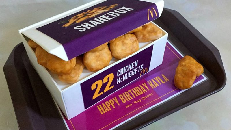 ARE YOU HAVING A MC-LAUGH? CHEEKY MUM PRANKS FRIENDS ONLINE WITH UNBELIEVABLY REALISTIC CHICKEN NUGGETS CAKE Image