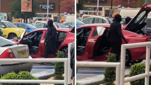 SHOCKING VIDEO APPEARS TO SHOW BRAZEN ARMED ROBBERS MAKE OFF WITH CLOTHES AND CASH FROM BUSY SHOPPING CENTRE IN BROAD DAYLIGHT Image