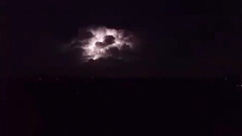 ELECTRIFYING FOOTAGE SHOWS LIGHTNING LIGHT UP NIGHT SKY DURING DALLAS STORMS Image