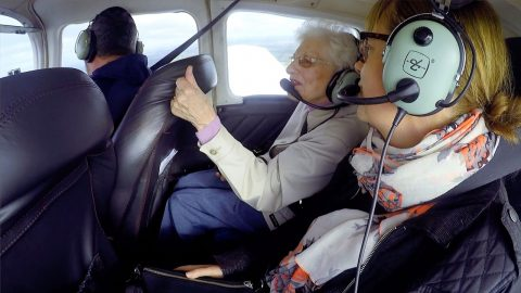 ADVENTUROUS PENSIONER CELEBRATES 90th BIRTHDAY WITH FIRST EVER FLIGHT AS HER LATE HUSBAND HAD BEEN SCARED OF FLYING Image