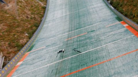 WORLD RECORD ATTEMPT RESULTS IN EPIC CRASH CAPTURED BY CINEMATIC DRONE Image
