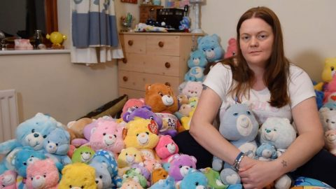 WOMAN OBSESSED WITH CARE BEARS SINCE THIRD BIRTHDAY TAKES TOYS WITH HER EVERYWHERE Image
