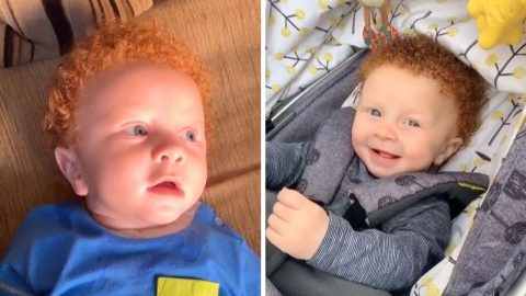 MIXED RACED MUM SHOCKED TO GIVE BIRTH TO RED HAIRED BABY WITH FAIR SKIN - WITH STRANGERS ASKING IF HE HAS BEEN SWAPPED AT BIRTH Image