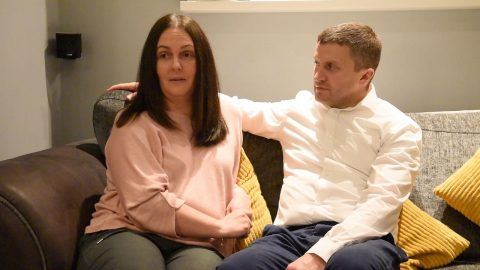HEADACHE MUM WHO THOUGHT SHE HAD JUST A BUG COLLAPSED WITH ULTRA-RARE ONE IN 100,000 STROKE - AFTER HUBBY CHECKED SYMPTOMS AND RULED IT OUT Image