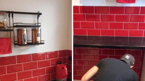YOUNG COUPLES USE CREATIVE HACKS TO COMPLETE DREAM KITCHEN FOR £500 Image
