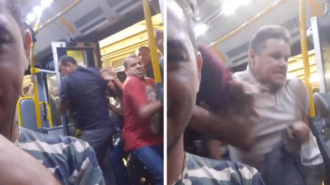 THINK YOUR COMMUTE IS BAD? SHOCKING MOMENT FRENZIED CROWD VIOLENTLY SWARMS INTO SUBWAY CAR Image