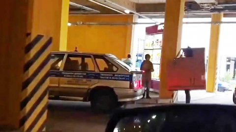 BIZARRE MOMENT MAN STANDS IN DRIVE THRU QUEUE DRESSED AS CAR Image
