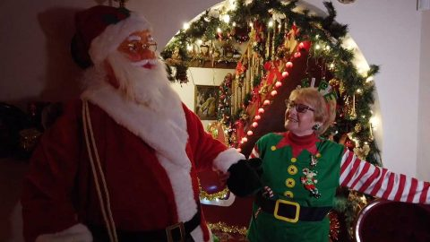 CHRISTMAS MAD GRAN - WHO HAS SPENT OVER £30K TURNING HOME INTO GROTTO Image