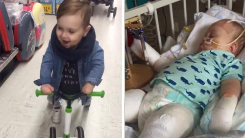 MUM DOCUMENTS MENINGITIS TOTS 84 GRUELLING OPERATION TO SHOW HOW HE HAS NEVER STOPPED SMILING Image