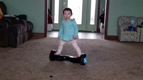 LITTLE GIRL MASTERS HOVERBOARD IN JOYFUL VIDEO Image