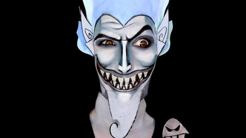 DEVILISH MAKE-UP ARTIST TRANSFORMS HERSELF INTO HIDEOUS HADES FROM DISNEY'S HERCULES Image