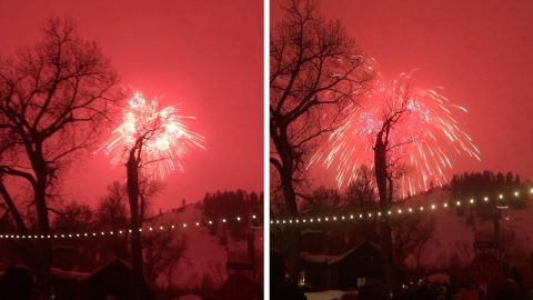 WORLD'S LARGEST FIREWORK SETS COLORADO SKY ABLAZE Image