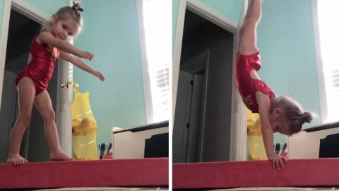GYMNAST, THREE, MASTERS THE MAT IN IMPRESSIVE WORK-OUTS Image