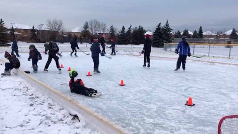 WINTER WONDERLAND! COMMUNITY COMES TOGETHER TO CREATE AN AWESOME ICE RINK Image