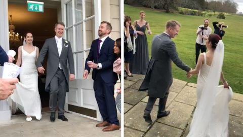 LOVE CONQUERS ALL! COUPLE BECOME UK'S LAST COUPLE TO WED BEFORE CORONAVIRUS LOCKDOWN – TYING KNOT 'AGAINST ALL ODDS' DESPITE GUESTS CANCELLING MINUTES BEFORE CEREMONY Image