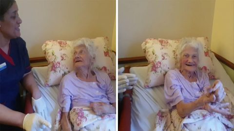 HELLO FROM THE OTHER SIDE! QUICK-THINKING CARE HOME STAFF FIND NOVEL WAY FOR OAPS WITH DEMENTIA TO SEND MESSAGES TO LOVED ONES DURING CORONAVIRUS LOCKDOWN – VIA POSITIVE VIDEO MESSAGES Image