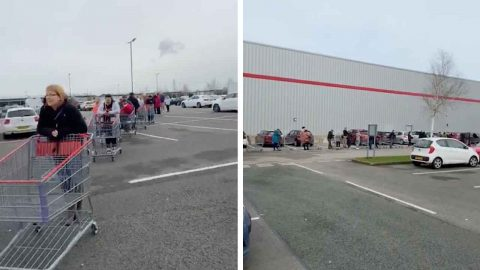 WATCH: HOUR-LONG QUEUING CHAOS AT COSTCO OVER CORONAVIRUS PANIC BUYING Image
