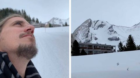 MAN SPOTS MOUNTAIN THAT LOOKS EXACTLY LIKE HIM Image