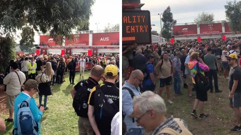 """""""PEOPLE WERE SNIFFLING AND COUGHING"""": THOUSANDS LEFT WAITING OUTSIDE GRAND PRIX GATES BEFORE OFFICIAL CANCELLATION DUE TO CORONAVIRUS FEARS Image"""