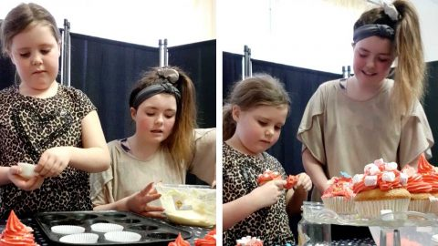 THE GREAT BRITISH E-BAKE OFF - MUM RECREATES BAKE OFF FOR BORED SCHOOLKIDS Image