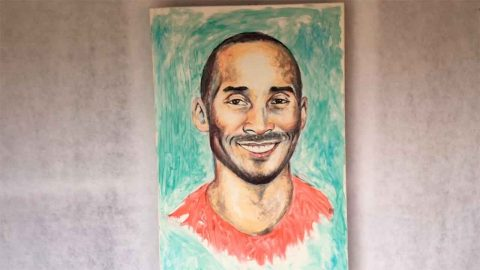 TOOTHPASTE ARTIST PUTS A SMILE ON BASKETBALL FANS' FACES WITH AMAZING KOBE BRYANT PORTRAIT Image