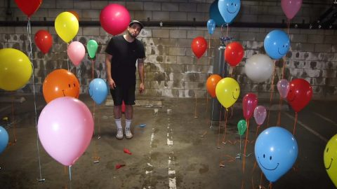 YOUTUBER USES HELIUM FILLED BALLOONS TO HIT THE HIGH NOTES WHILE RE-CREATING SOUNDS FROM POP HIT 'FALLING' Image