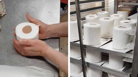 SO GOOD YOU COULD EAT IT! MASTER BAKER MAKES TOILET ROLL IN CAKE FORM Image