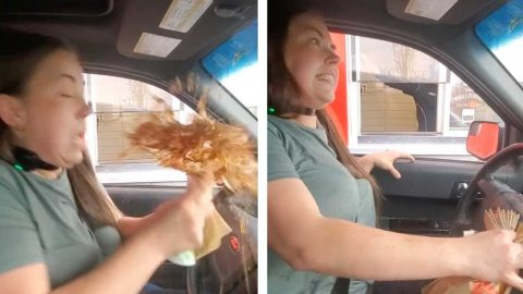 MAN SHOCKS SISTER IN DRIVE THRU PRANK Image